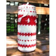 """Чехол для пива """"Бело-красный с зигзагами"""""""